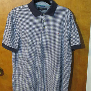 Tommy Hilfiger Checkered Polo Shirt L